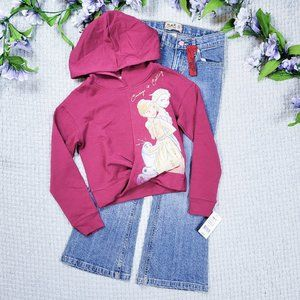 Disney Frozen burgundy sweater/CP girls jeans lot